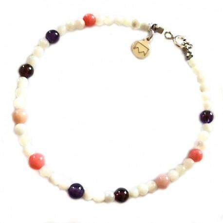 Bracelet Aigue marine lisse