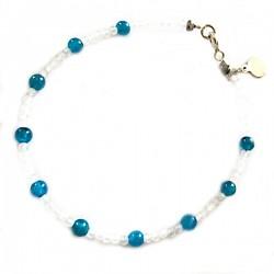 Bracelet onyx et pyrite de fer