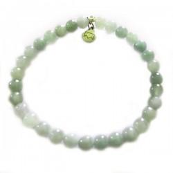 Bracelet jade 5-6mm pierres rondes