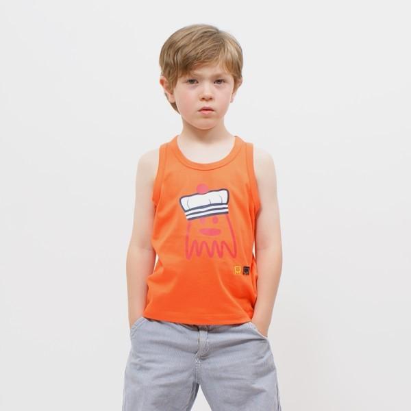 af923d2b01087 Débardeur enfant garçon imprimé pieuvre marin jersey coton bio FELIX