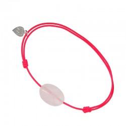 Bracelet cordon Fushia Quartz rose
