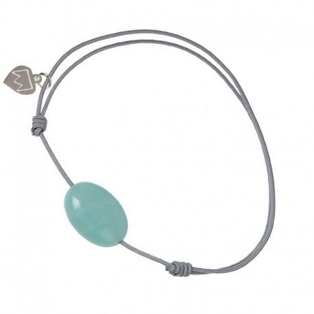 Bracelet cordon Gris Amazonite