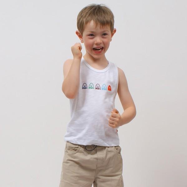 f8171daf9e3c3 Débardeur enfant garçon imprimé coton jersey bio OSCAR